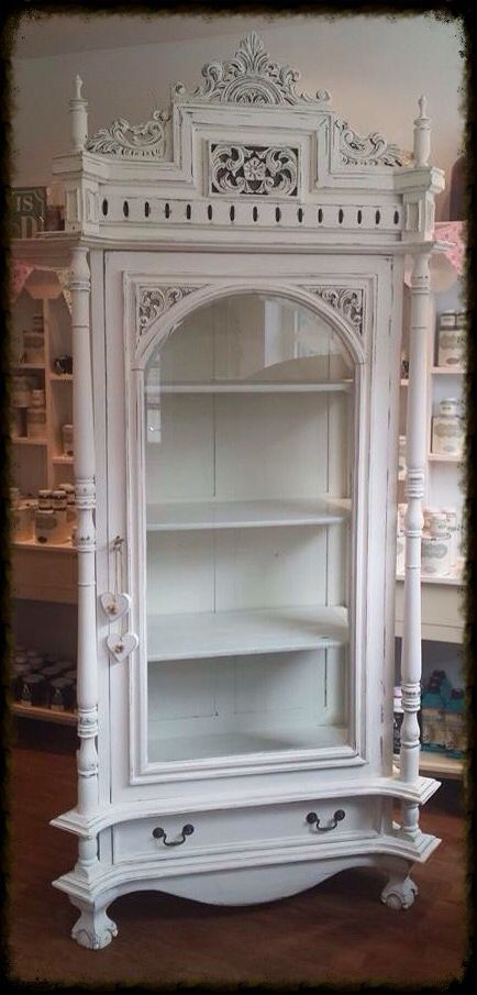 Stunning carved display cabinet, painted in Everlong Vintage   £645