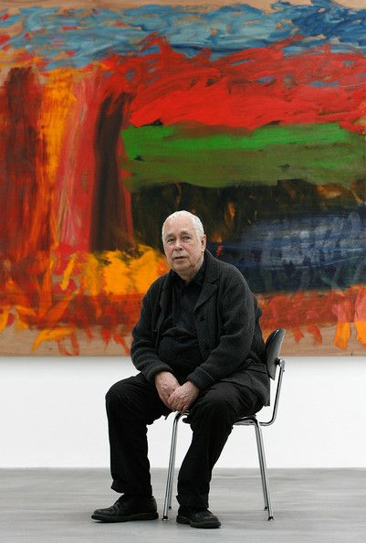 Howard Hodgkin Photos Photos - Howard Hodgkin in front of his new oil on wood painting 'Home, Home on the Range'   on 3 April, 2008 in London, England. The Howard Hodgkin exhibition opens at the Gagosian Gallery from Thursday 3 April to Saturday 17 May 2008. - Howard Hodgkin Unveils His Exhibition Of New paintings