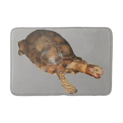 Asian  Forest Tortoise Bath Mat - animal gift ideas animals and pets diy customize