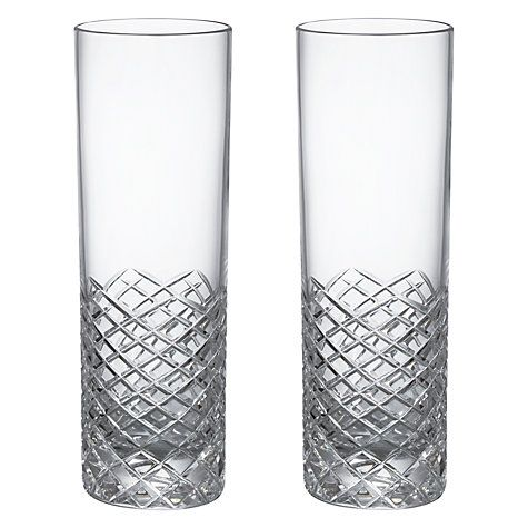 Buy Social by Jason Atherton Hand Cut Crystal Glass Highball Glasses, Set of 2 Online at johnlewis.com