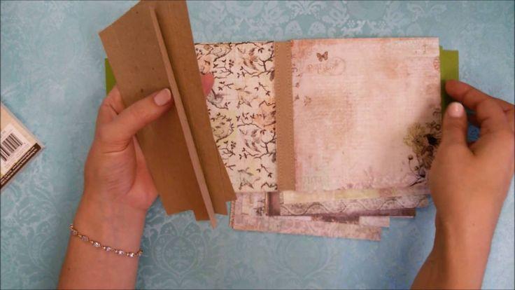 Начинаю делать альбом ))) Скрапбукинг. Scrapbooking. Handmade.