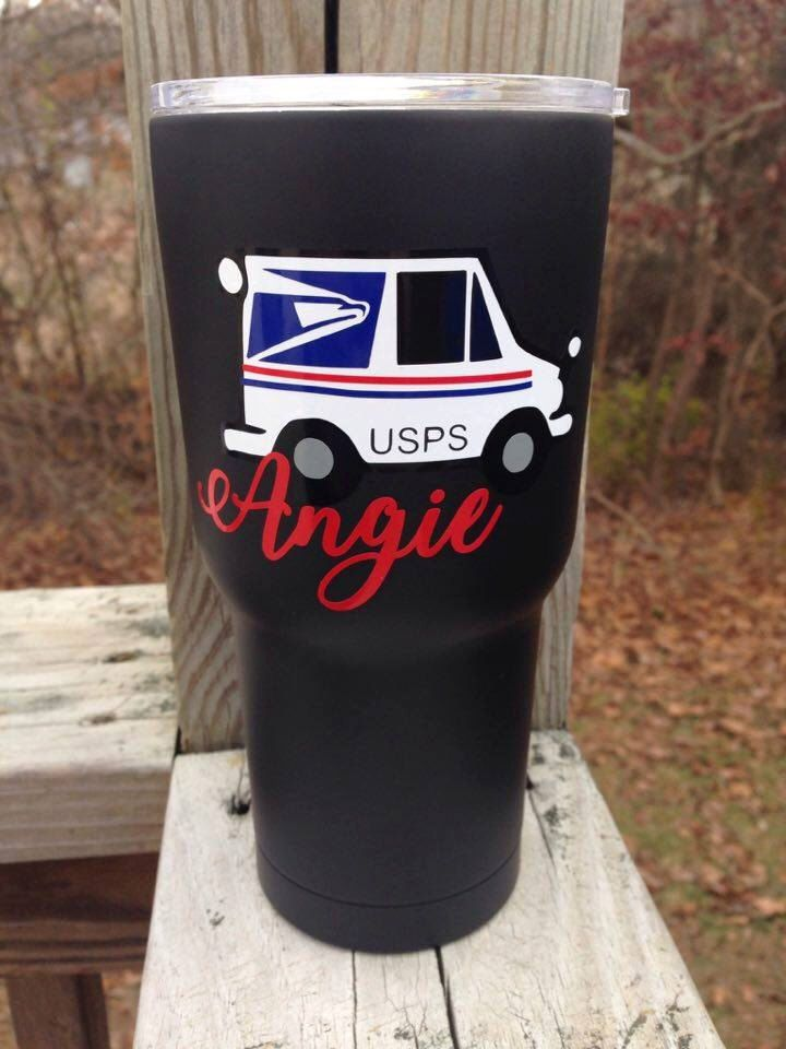 Mailman Decal, Mail Lady Decal, Gift for Mailman, Tumbler Decal, USPS Worker, Postal Worker, Yeti Decal, Car Decal, Mail Truck, Mail Carrier by TheDecalShoppeInc on Etsy https://www.etsy.com/listing/499511877/mailman-decal-mail-lady-decal-gift-for