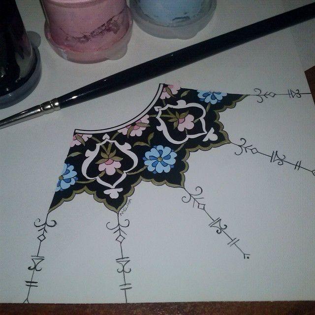 Öylesine işte deneme yanılma :))) #desen #tasarım #tezhip #rumi #renk