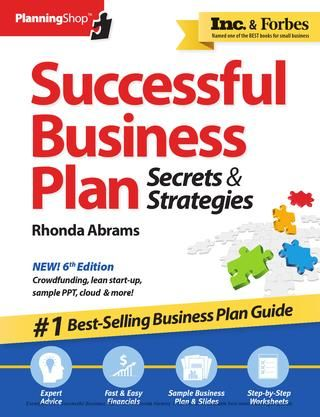 Successful Business Plan, 6th Edition Preview  Includes front and back covers, front matter, table of contents, introduction, sample chapter 5, and index.