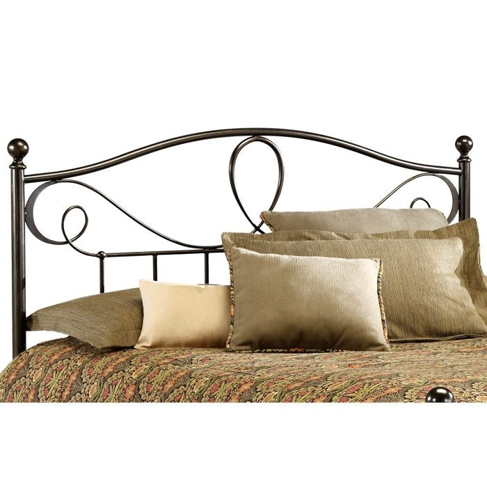 full size metal headboard in french roast finish quality house