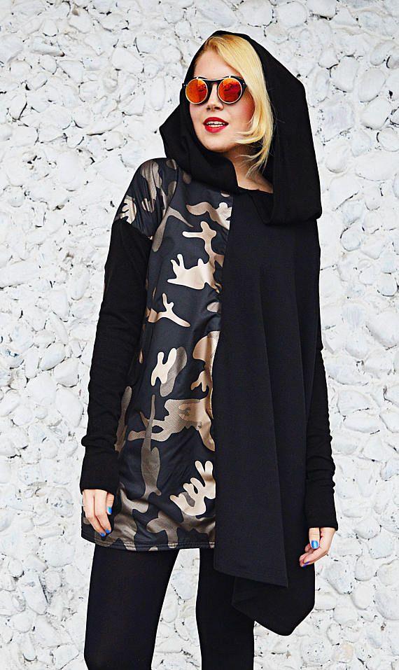 LIMITED EDITION Camo Dress Asymmetrical Sweatshirt Dress