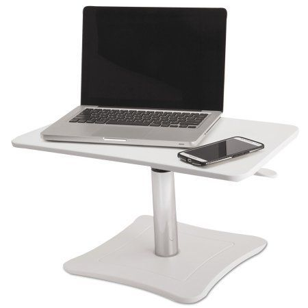 Victor High Rise Adjustable Laptop Stand, 21 x 13 x 15 3/4, White/Chrome