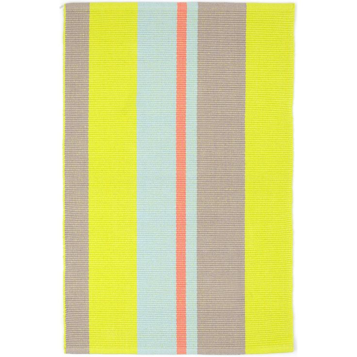 Test drive this rug in your space.Order a swatch by adding it to your cart.Named after a beautiful resort town on the Mediterranean, this lightweight woven cotton rug brings a seaside vibe to any room with splashes of coral, sky, and citrus juxtaposed against a misty dove grey.   Made to coordinate with coral, citrus, and sky bedding, decorative pillows, and throws from Pine Cone Hill.