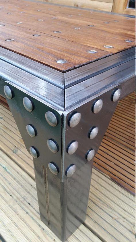Industrial Coffee Table HandmadeSteelOak & Bespoke