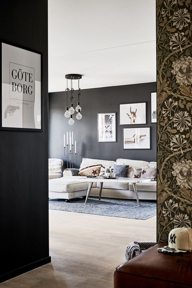 M s de 17 ideas fant sticas sobre paredes negras en for Decoracion paredes interiores