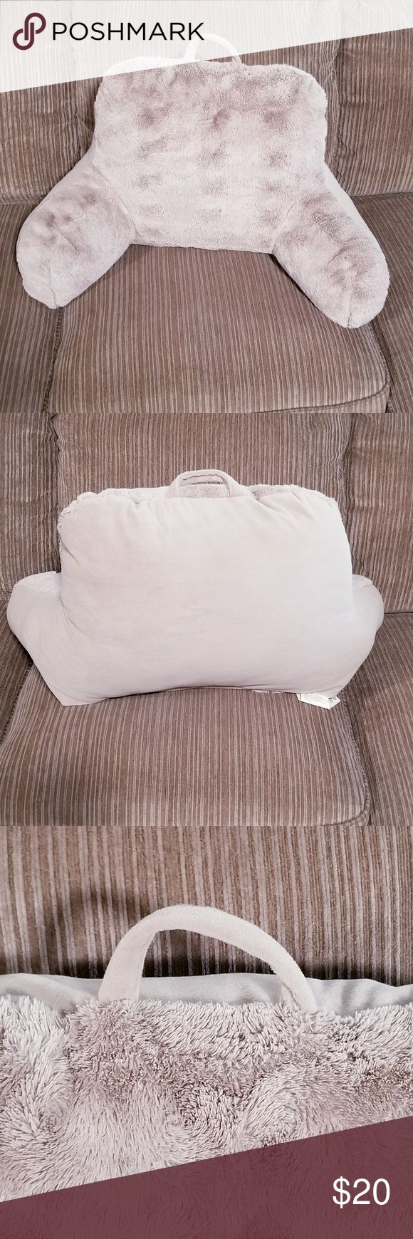 Bed Rest Pillow Textured * Color Taupe * Cover Front 100