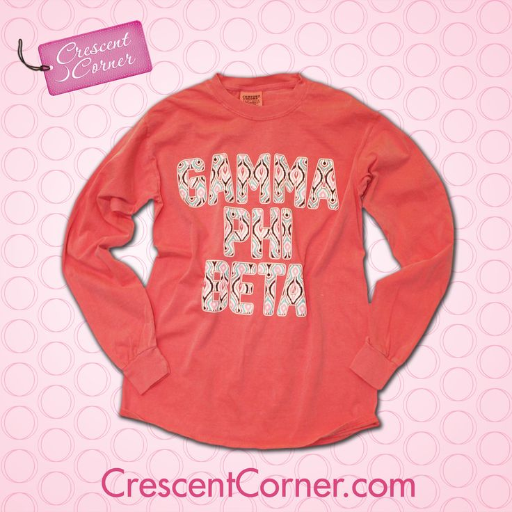 #TrendyThursday! This is your new live-in-it, wear-it-everywhere long-sleeved shirt! Like or repin to win this and all the items featured from Crescent Corner in October! #GammaPhiBeta