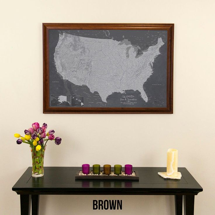 Canvas Stormy Dreams USA Travel Map