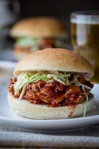 Slow-Cooker Maple Chipotle Pulled Chicken on healthyseasonalrecipes.com