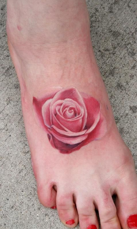 Pink Rose Tattoo Designs | More Tattoo Images Under: Rose Tattoos