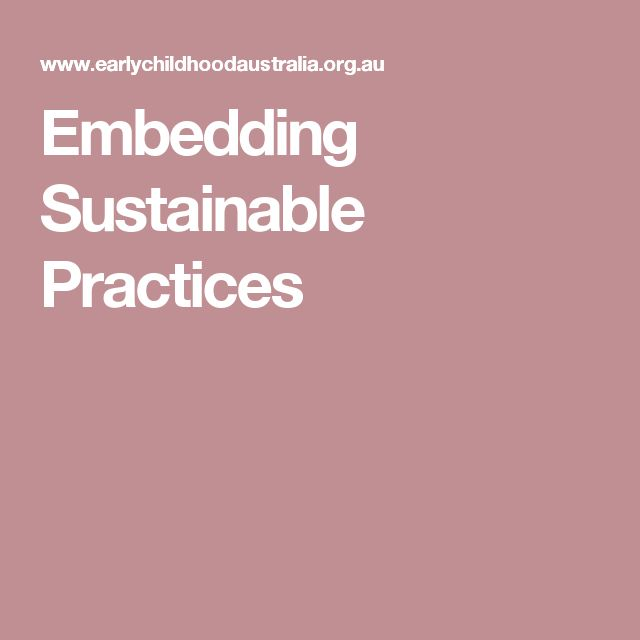 Embedding Sustainable Practices