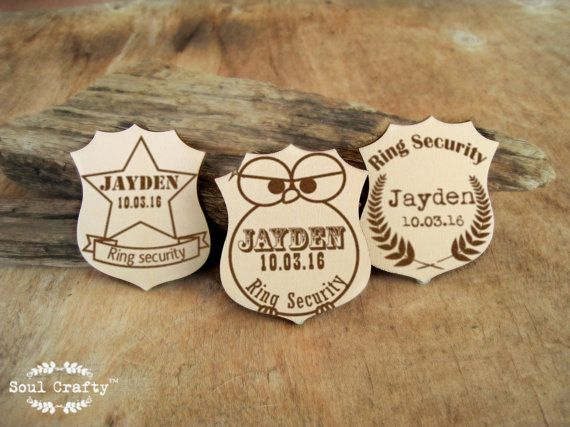 Personalized Ring Security Badge Cute Owl by SoulCraftyGarden