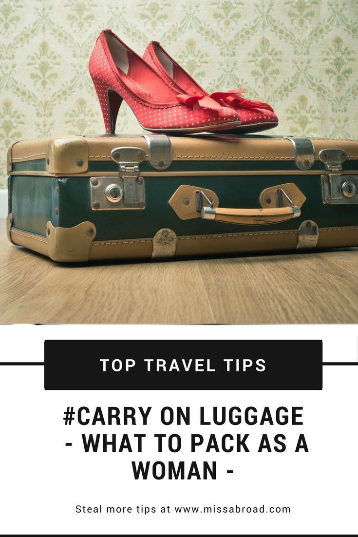 The Carry-On Luggage Challenge: what to pack? #female #handluggage #packing #travel