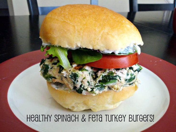 Spinach and Feta Turkey Burgers. Dinner tonight!