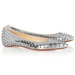 Buy For Sale Christian Louboutin Pigalle Spiked Ballerinas Silver from  Reliable For Sale Christian Louboutin Pigalle Spiked Ballerinas Silver  suppliers.
