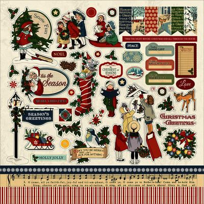"Christmas+Wonderland+Cardstock+Stickers+12""X12""-"