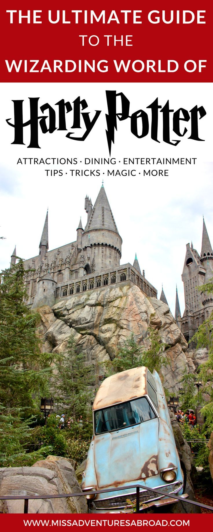 The Ultimate Guide To Universal Studios' Wizarding World of Harry Potter For Muggles · Discover the best tips for visiting the Wizarding World of Harry Potter. You'll learn about the best attractions, dining experiences, shops, and entertainment in this magical world. From exciting rides to butterbeer you won't want to miss the wizarding world on your next trip to Orlando or Hollywood!