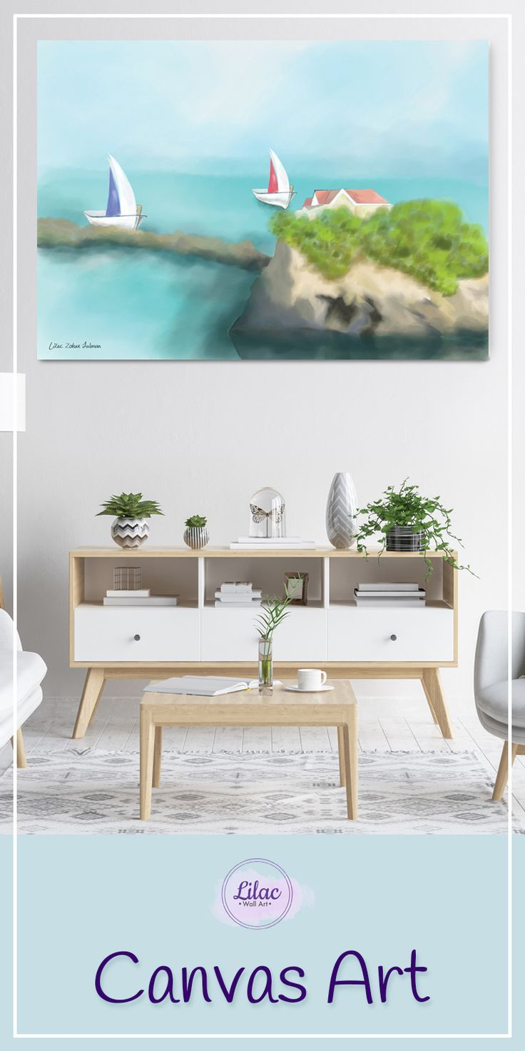 Seascape Canvas Wall Art For Living Room Nautical Wall Decor For