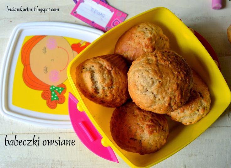 Basia w kuchni: Babeczki owsiane z cynamonem - pyszne na drugie śniadanie do szkoły