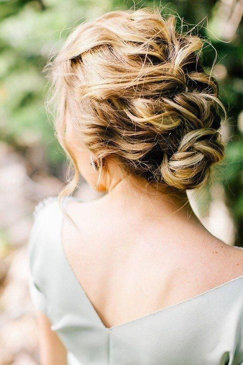 A perfect romantic updo for a wedding.