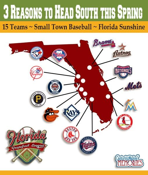 grapefruit league baseball 3 reasons to head south and map of