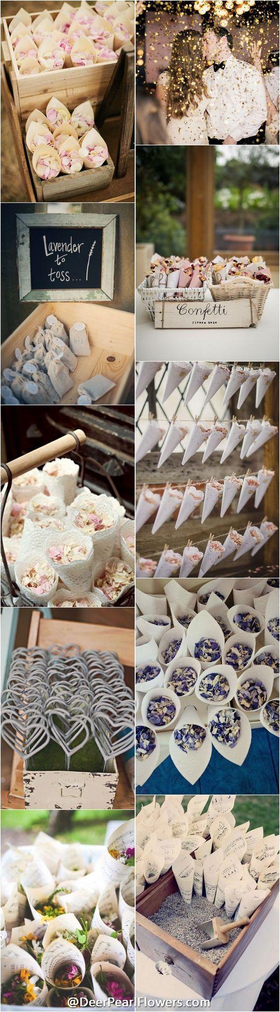 unique wedding ideas - wedding exit confetti moss send off ideas /  http://www.deerpearlflowers.com/wedding-exit-send-off-ideas/