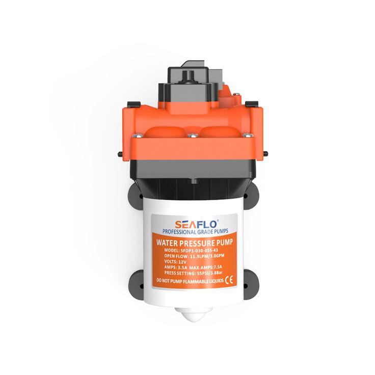 새로운 물 압력 12 볼트 다이어프램 펌프 3.0 gpm 55PSI 캐러밴 해양 요트