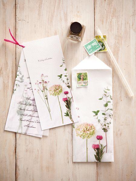 招待状 手作り結婚式のすすめ「幸せのたね。」