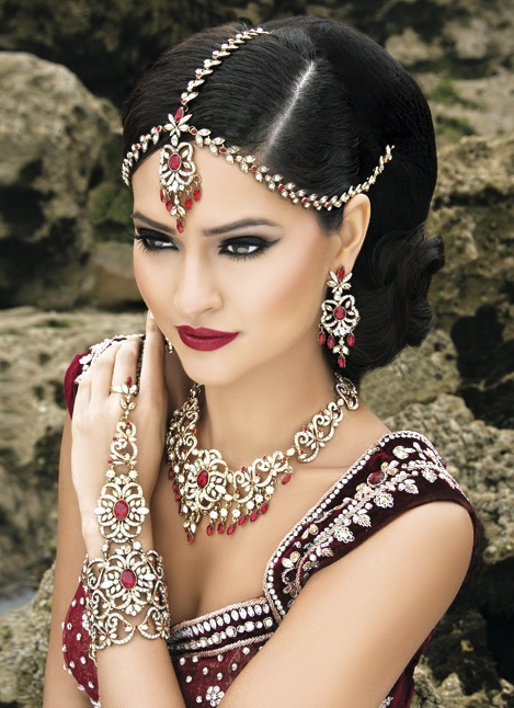 Headpiece Is Stunning I Think The Wrist Piece Too Much Make UpIndian JewelryIndian Bridal