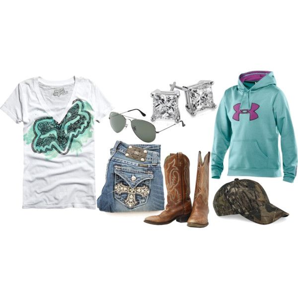 """Fox Racing"" by small-town-country-gurl on Polyvore"