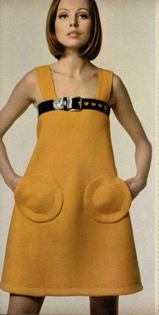 YIKES!! Thk gdnss I never saw any of my friends or family wear anything like this in the late 60's.... horrible fashion. Pierre Cardin, 1968. [fashion was so much better in the 70's where I came frm in the UK] ~ and we never wore hippie-style either... yuk!!