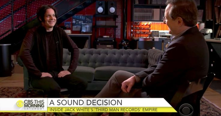 Jack White Gives Tour Inside Third Man Records Factory on 'CBS This Morning' #headphones #music #headphones