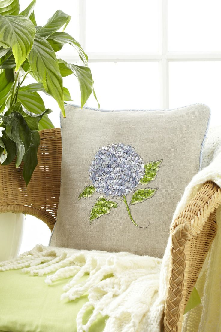 Angela Poole designed this fab hydrangea cushion for CSC October 227: http://www.myfavouritemagazines.co.uk/stitch-craft/cross-stitch-collection-magazine-back-issues/cross-stitch-collection-october-13/