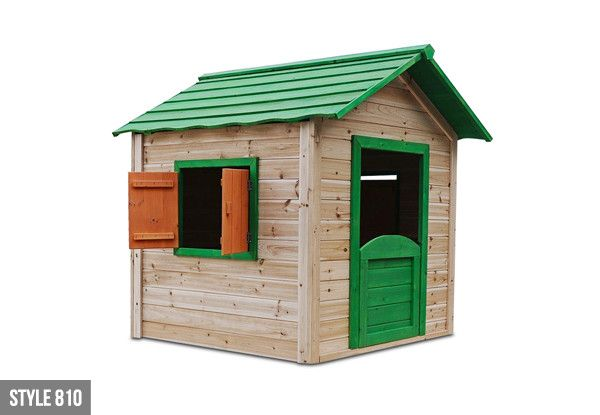Wooden Children's Playhouse Available in Two Options