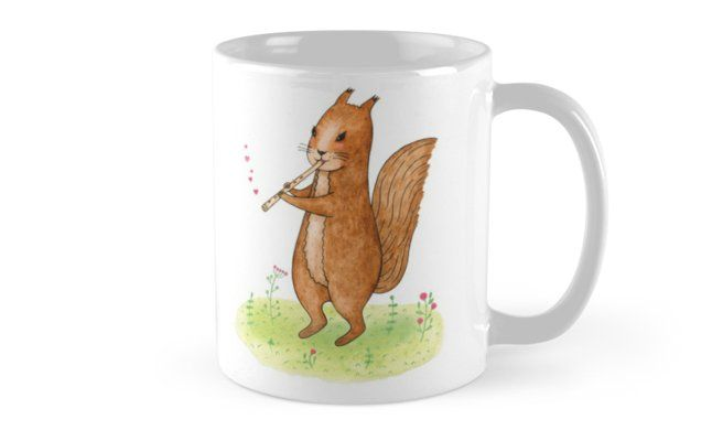 Squirrel with pipe by Alla Rinchino
