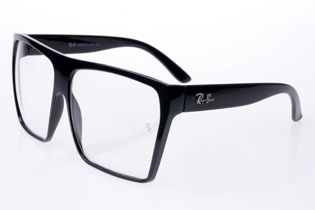 Ray Ban Clubmaster RB2128 Sunglasses Black Frame Transparent Lens