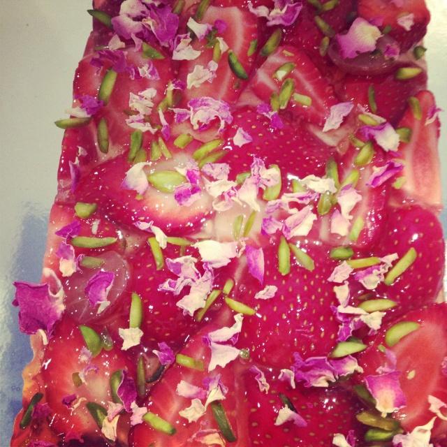Rose water & watermelon cake - black star bakery newtown