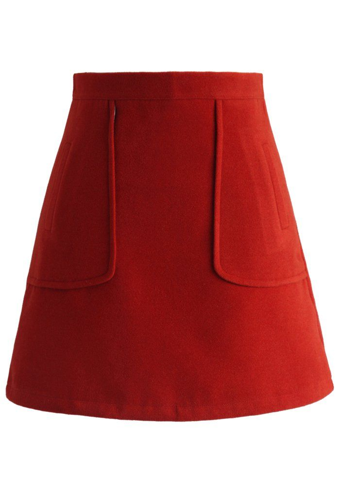 Pocket of Charm Bud Skirt in Red - New Arrivals - Retro, Indie and Unique Fashion