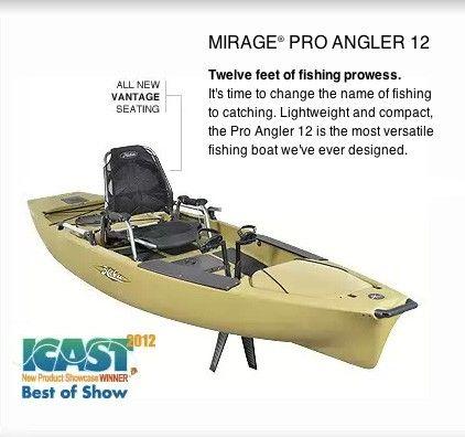 Hobie Kayak Mirage Pro Angler 12 Single 12' - Desiring to get some leisure / rest/ refreshing salt water ocean fishing in
