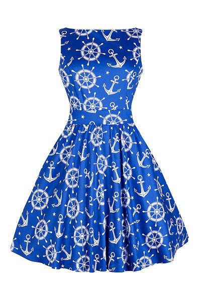 ce0885cfa768 Modré námořnické šaty Lady V London Tea Nádherné šaty z limitované edice  londýnské módní dílny Lady V London. To pravé pro krásné letní dny