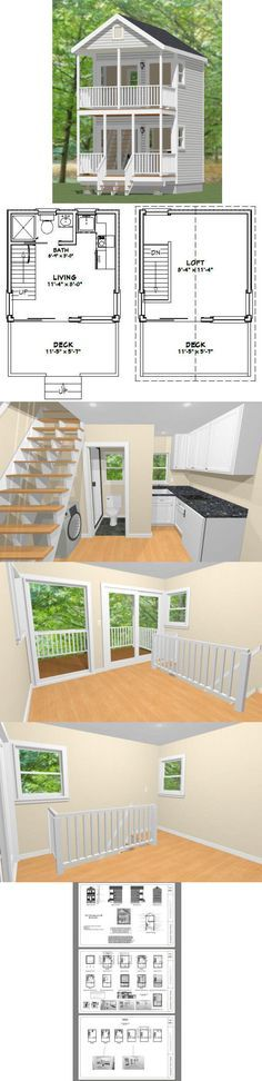 12x12 House w/ Loft PDF Floor Plans 268 by ExcellentFloorPlans