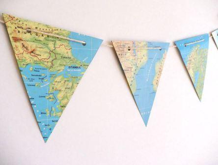 Wereldkaarten in de kinderkamer   Decorate with maps in kids rooms (Pinterest)