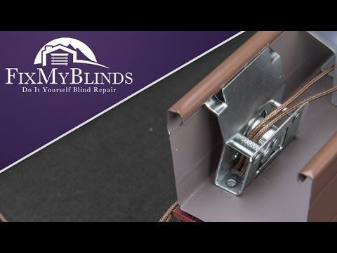 How To Replace A Cord Lock In A Wood Faux Wood Blind In