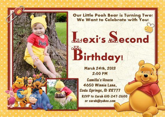 13 best pooh bear birthday invitations images on pinterest   pooh, Birthday invitations