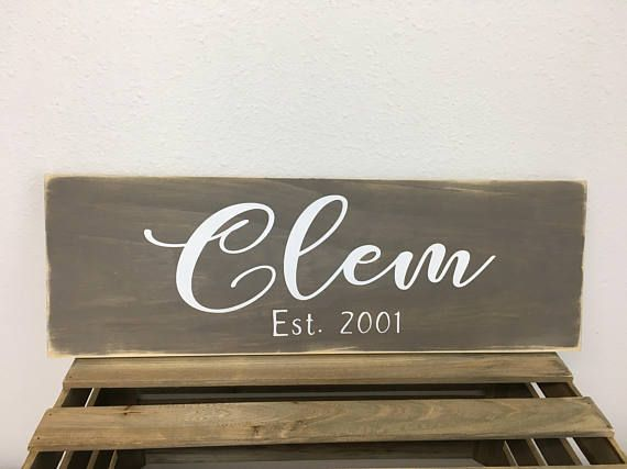 Farmhouse Style Handpainted Wood Sign with personalized name
